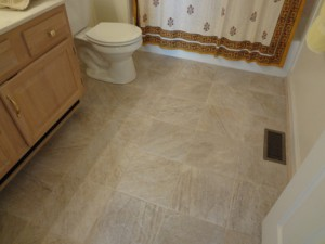 Mold eradicated - After: New tile floor